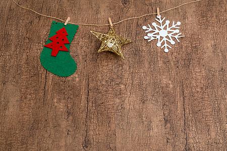挂起来的圣诞元素图片