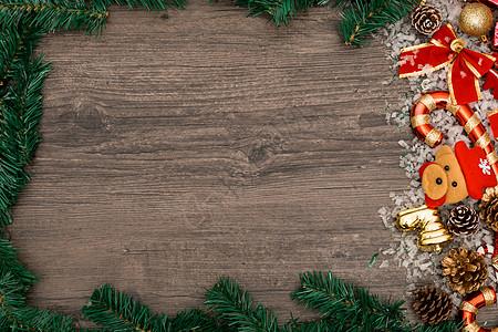 圣诞节背景设计素材摆拍图片