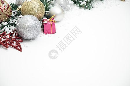 各种圣诞礼物元素组合背景图片
