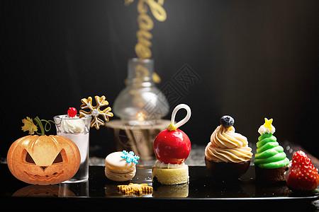 万圣节双味奶酪霜杯子蛋糕图片