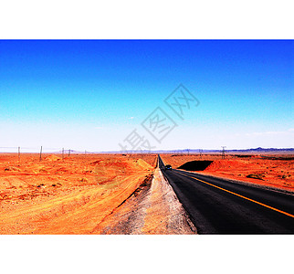 中国大西北戈壁公路图片