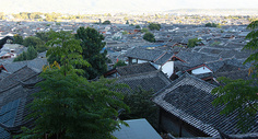 丽江古城俯瞰图片