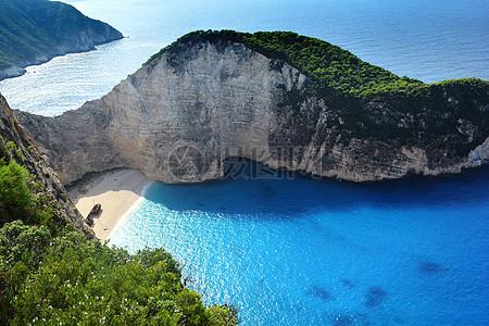 希腊海滩景观图片