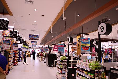 超市超市货架图片