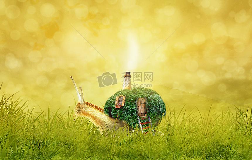 蜗牛的房子图片