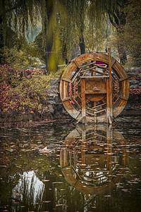 秋意水车图片