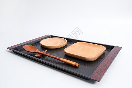 木质餐盘木盘木勺图片