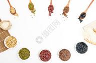 五谷杂粮豆子红豆绿豆黄豆黑豆图片