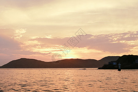 夕阳西下图片