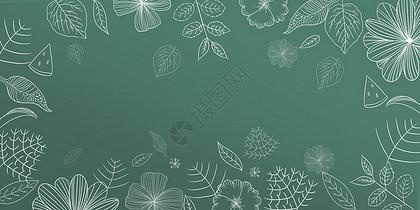 手绘花朵边框图片