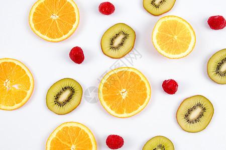 水果元素清新背景素材高清图片