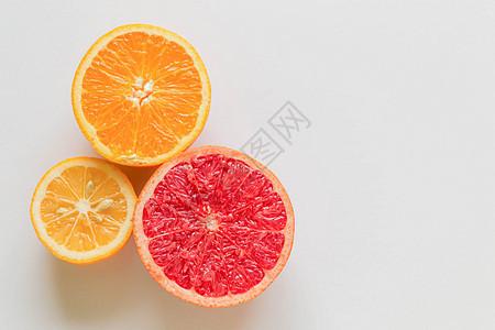 水果平铺静物拍摄图片