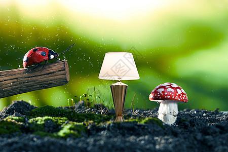 有台灯的小虫子图片