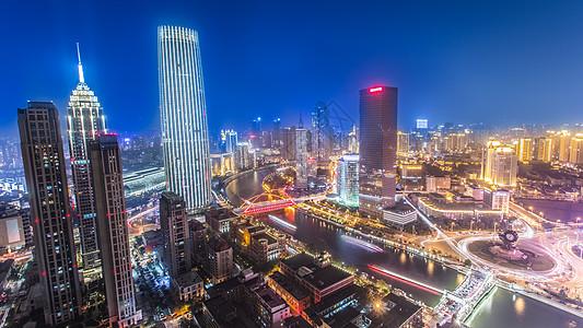 城市夜景津夜图片