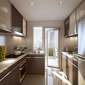 现代风格餐厅厨房效果图图片