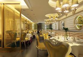 现代风格餐厅饭店效果图图片