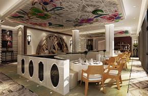 现代餐厅走廊效果图图片