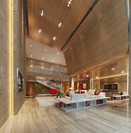 现代简约的客厅效果图图片