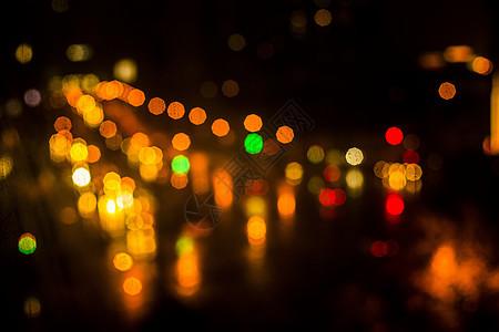霓虹灯光斑图片