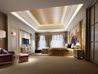 欧式卧室效果图图片