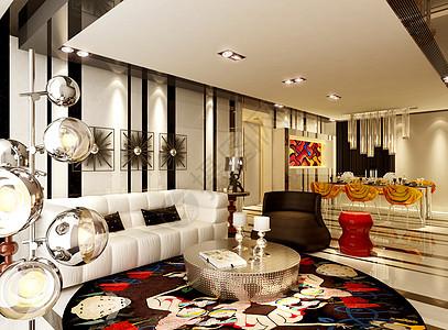 美丽的客厅卧室效果图图片