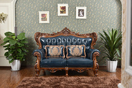 欧式风格家具家私 古典沙发 靠垫 靠枕皮沙发图片