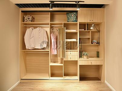 壁柜样板展示 木质衣柜多用柜子图片