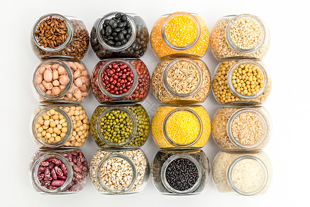 腊八粥粗粮材料组合豆子和粥原料图片