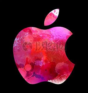 炫彩苹果LOGO图片