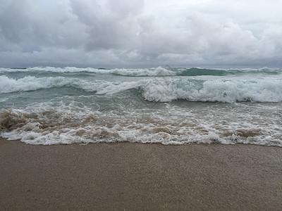 太平洋的海浪图片