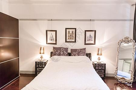 时尚设计明亮家具卧室环境图片