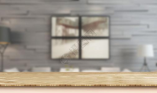 室内木板桌图片