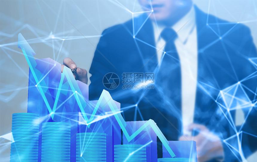 商务数据报告ppt背景图片
