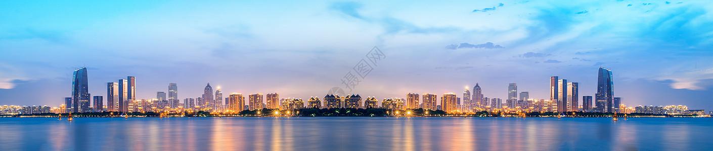 深圳城市天际线背景