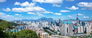 深圳小南山顶俯瞰图片