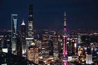 上海城市夜景陆家嘴图片