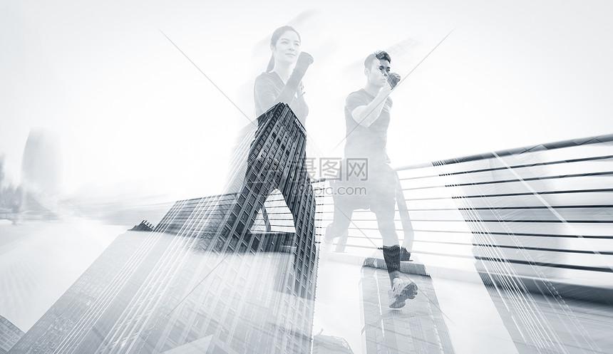 跑步运动的男人图片