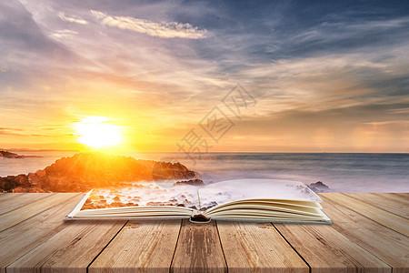 海滩背景图片