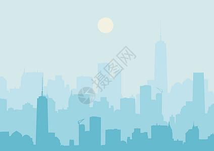 城市的轮廓图片