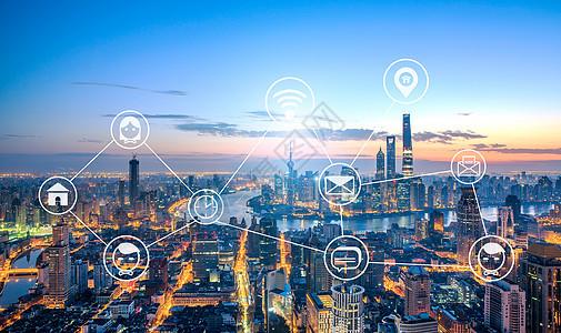 智能城市和无线通信网络图片