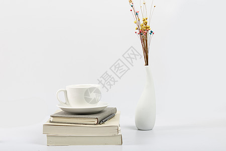 书本与咖啡杯图片