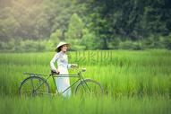 田园中的越南女孩图片