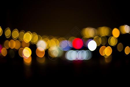 城市夜晚霓虹灯图片