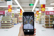 无现金日无人超市手机购物消费图片