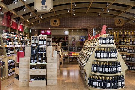红酒酒窖红酒专柜图片