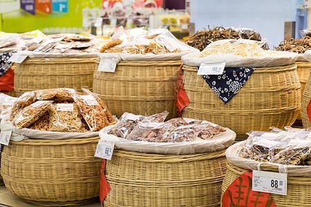 菜市场里的干果干货图片