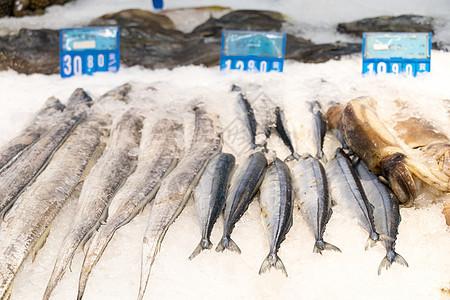 超市商场里的海鲜水产图片