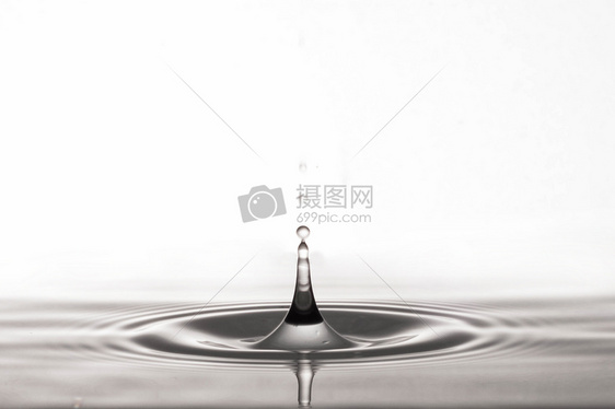 水滴高速瞬间逆光棚拍图片