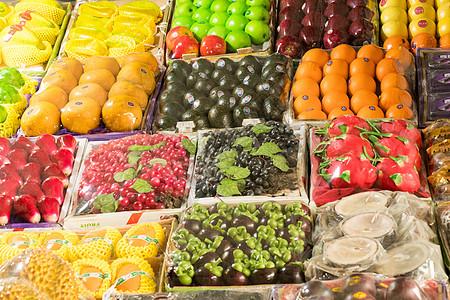 色彩丰富的水果摊图片