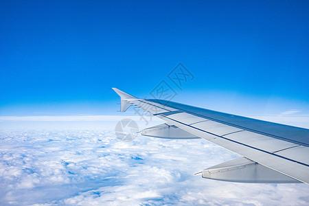 飞机机舱内拍摄机翼图片